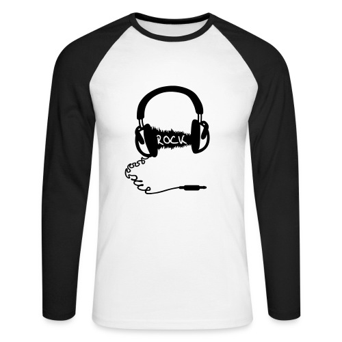 Rock Headphones - T-shirt baseball manches longues Homme