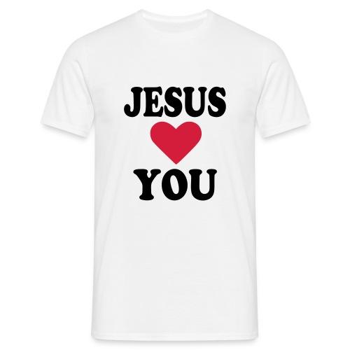 Jesus loves you - T-shirt herr