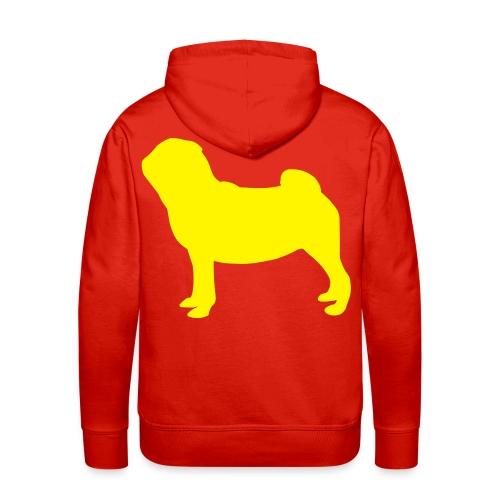 Pug Luv x Unisex Pug Stand Hoodie Red - Men's Premium Hoodie