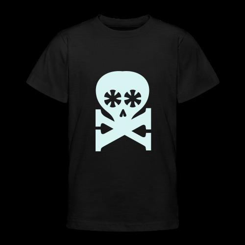 kinder, t-shirt, klassisch, typoskull, reflektierend - Teenager T-Shirt