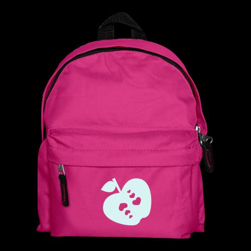 kinder, rucksack, apfel mit herz, reflektierend - Kinder Rucksack