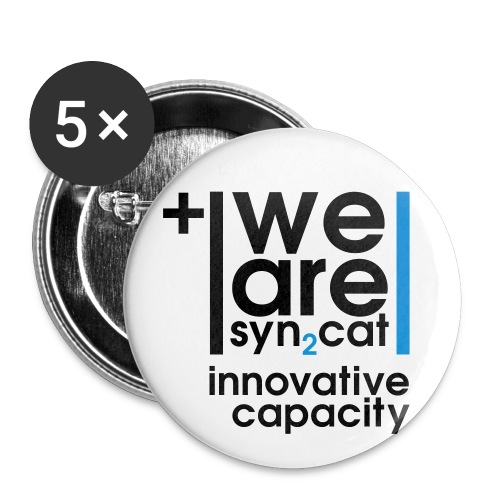 we are syn2cat (L) - Buttons large 2.2''/56 mm(5-pack)
