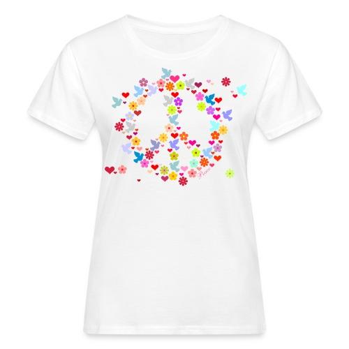 Peace Flowers Women's T-shirt - Women's Organic T-Shirt