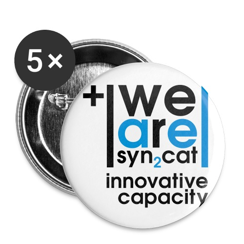 we are syn2cat (S) - Buttons small 1''/25 mm (5-pack)