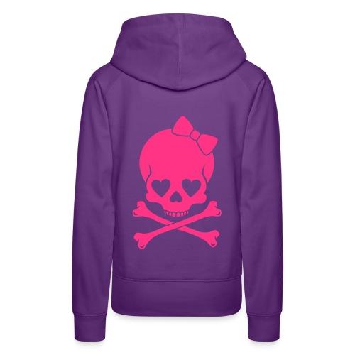 Pug Luv xSexy Pink Skull - Women's Premium Hoodie