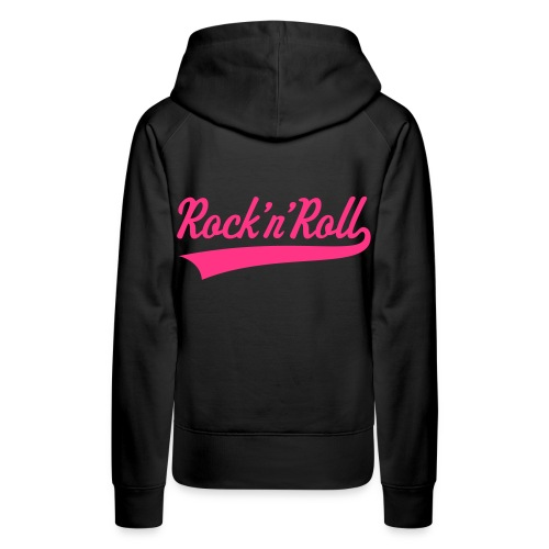 Pug Luv x Rock n Roll - Women's Premium Hoodie