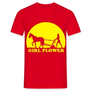 Grappig Girlpower (plower) T-shirt - Mannen T-shirt