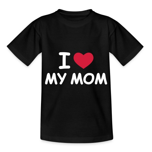 Lapsille I Love My Mom Black - Nuorten t-paita
