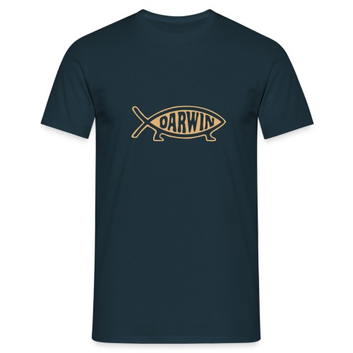 DARWIN FISH - Navy Blue - Männer T-Shirt