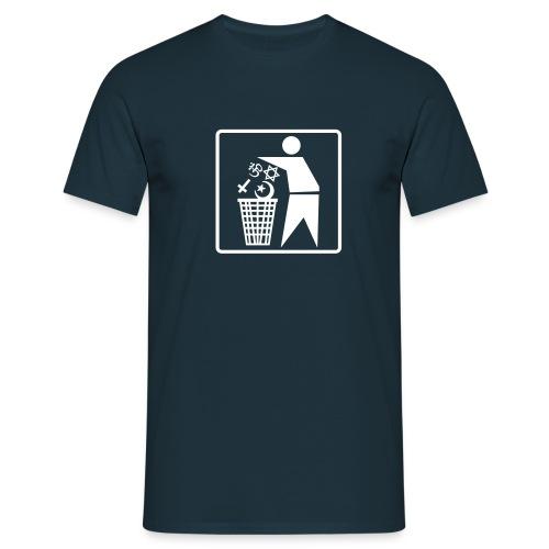 Trash Religion Navy - Männer T-Shirt