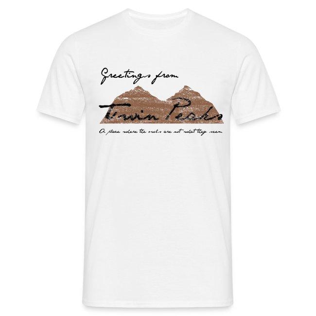 Camiseta Twin Peaks - chico manga corta