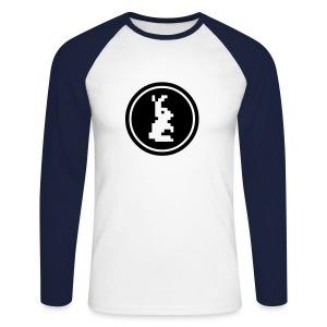 Black White Retro Longsleeve - Mannen baseballshirt lange mouw