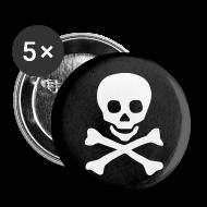 Bottoni & Spille ~ Spilla piccola 25 mm ~ Jolly Roger