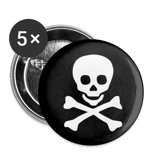 Jolly Roger - Confezione da 5 spille piccole (25 mm)
