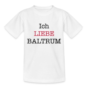 Ich liebe Baltrum Kinder-Shirt weiß - Teenager T-Shirt