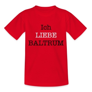 Ich liebe Baltrum Kinder-Shirt rot - Teenager T-Shirt