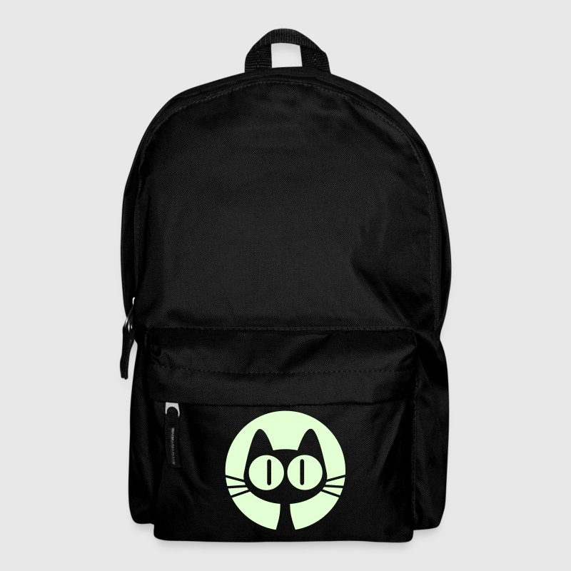 Cute Cartoon Moon Cat Glow In The Dark Backpack by Cheerful Madness!! - Backpack
