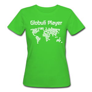 Globuli Player - Frauen Bio-T-Shirt
