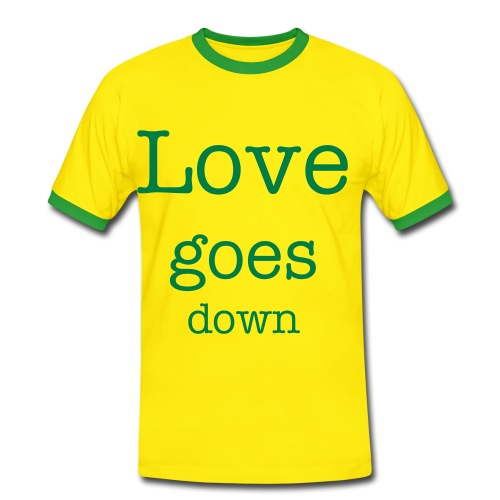 Love goes down - Männer Kontrast-T-Shirt