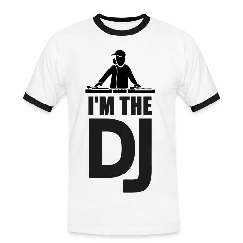 I'm the DJ White - Männer Kontrast-T-Shirt