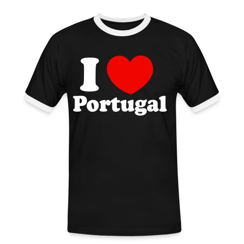Love Portugal Shirt Black - Männer Kontrast-T-Shirt
