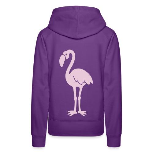 kapuzenpullover flamingo vogel flügel feder tropisch pink lange beine tier shirt t-shirt tiermotiv - Frauen Premium Hoodie