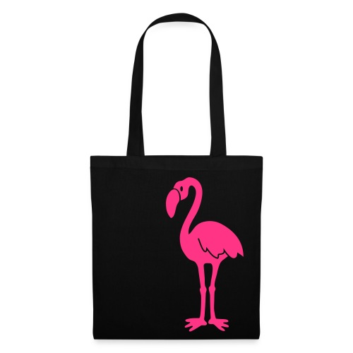 tasche flamingo vogel flügel feder tropisch pink lange beine tier shirt t-shirt tiermotiv - Stoffbeutel
