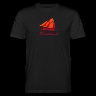 T-Shirts ~ Männer Bio-T-Shirt ~ Zeesboot mit Schriftzug »Fischland«