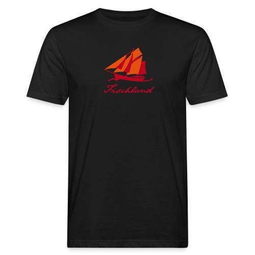 Zeesboot mit Schriftzug »Fischland« - Männer Bio-T-Shirt