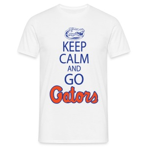 Keep Calm, *No Gator Club logo*  (White) - Men's T-Shirt