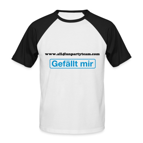 All4Fun - Baseball Shirt s/w - Männer Baseball-T-Shirt