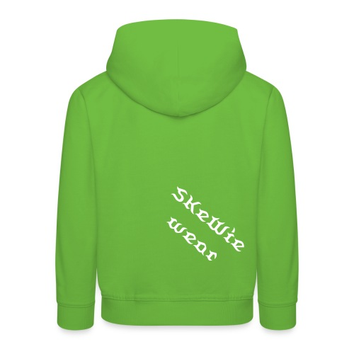 Kinder Skewie Official Kapu, Front- & Backprint! - Kinder Premium Hoodie