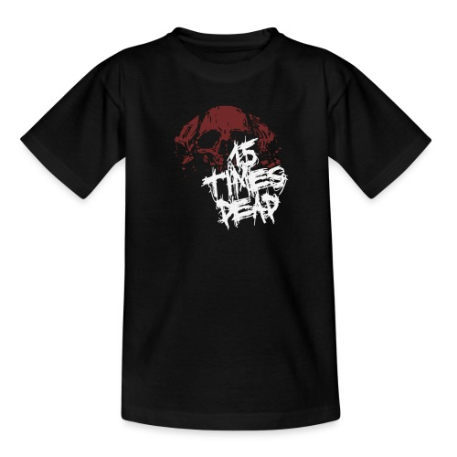 Kids 15 Times Dead Skull Tee - Teenage T-shirt