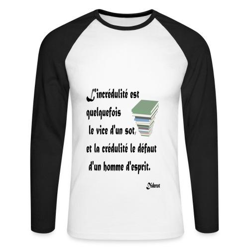 Crédulité - T-shirt baseball manches longues Homme