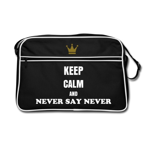 borsa retro keepcalmandneversaynever - Borsa retrò