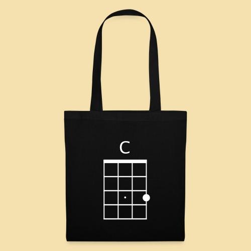 Stofftasche: C-Dur akkord (Motiv: weiß) - Stoffbeutel