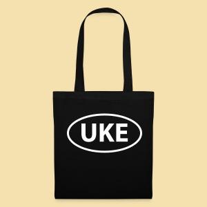 Stofftasche: UKE (Motiv: weiß) - Stoffbeutel