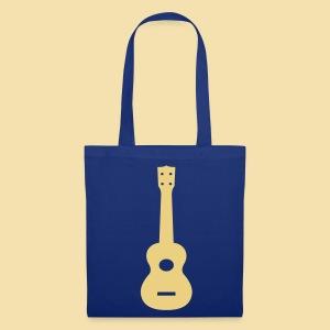 Stofftasche: Ukulele (Motiv: beige) - Stoffbeutel