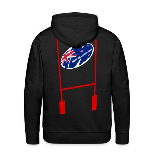 sweatshirt rugby new zealand design - Sweat-shirt à capuche Premium pour hommes