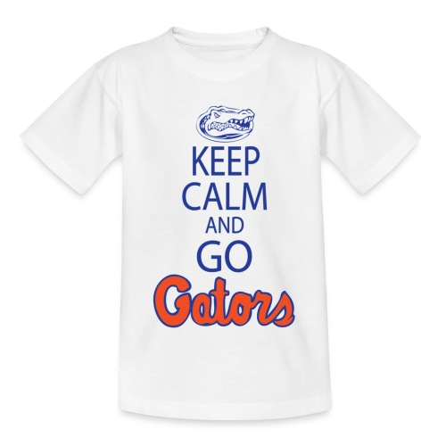 Keep Calm, *No Gator Club logo*  (White) (Kids) - Teenage T-Shirt