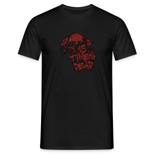 Men's Red 15 Times Dead Logo - Men's T-Shirt