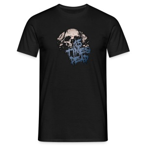 Girth Metal Mafia Blue Logo Print - Men's T-Shirt