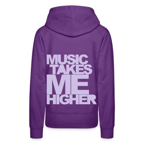 MUSIC TAKES... - Felpa con cappuccio premium da donna