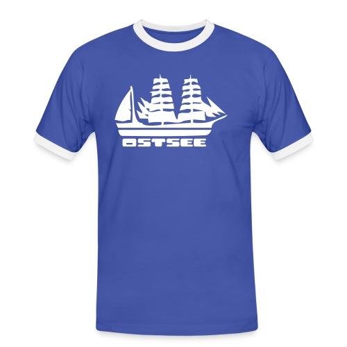 Ostsee Segelschiff T-Shirt  - Männer Kontrast-T-Shirt