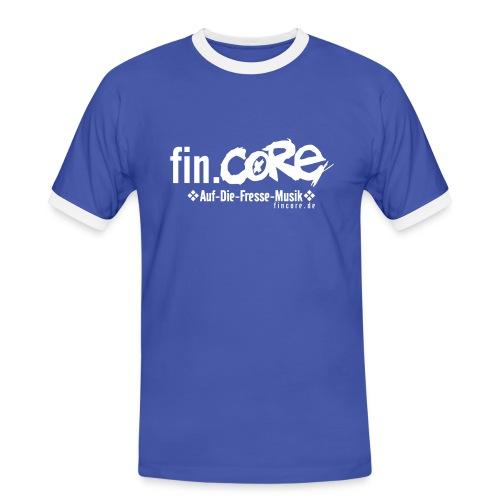 fin.core Fußballshirt - Männer Kontrast-T-Shirt