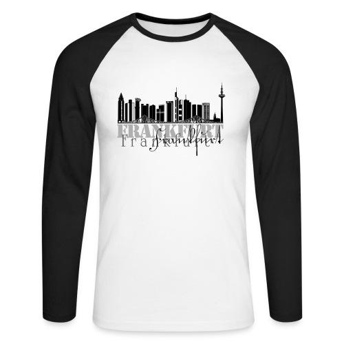 Skyline Frankfurt - Männer Baseballshirt langarm