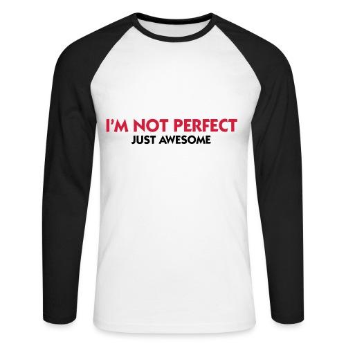 yeah man - Langermet baseball-skjorte for menn