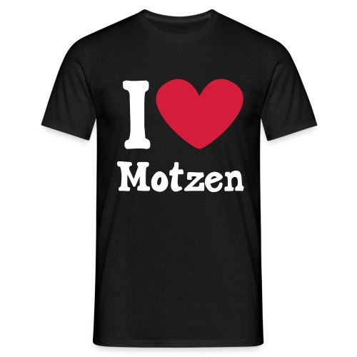 I Love Motzen (schwarz) - Männer T-Shirt