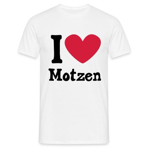I Love Motzen (weiß) - Männer T-Shirt