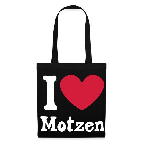 I Love Motzen (Beutel, schwarz) - Stoffbeutel